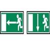 Indicação de direcção de uma saída de emergência